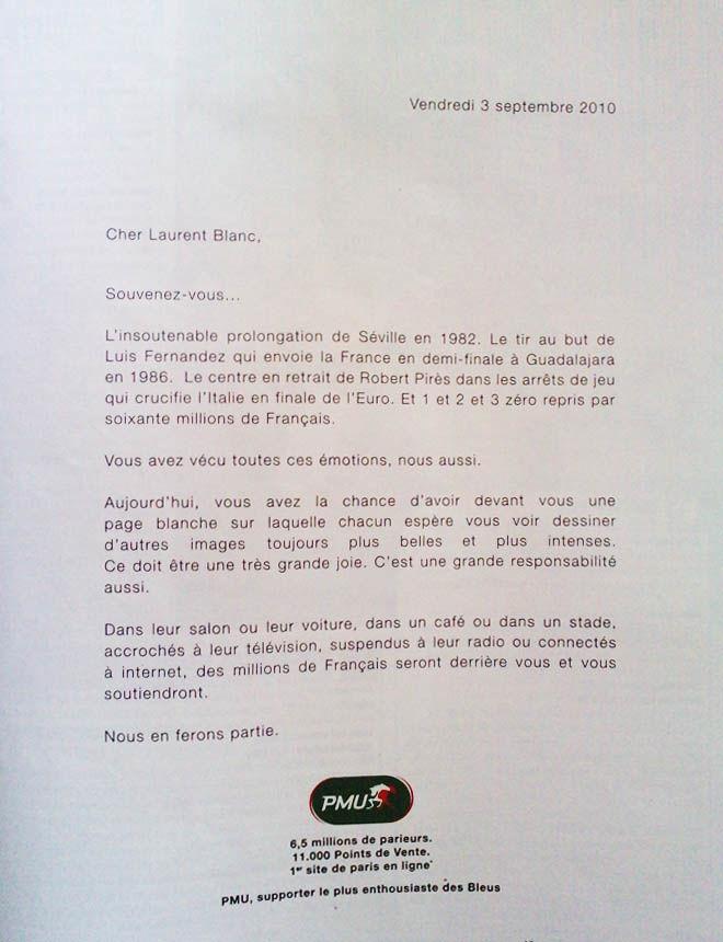 Nouvelle pub PMU. Lettre ouverte à Laurent Blanc