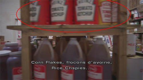 Product placement Heinz in The Shining