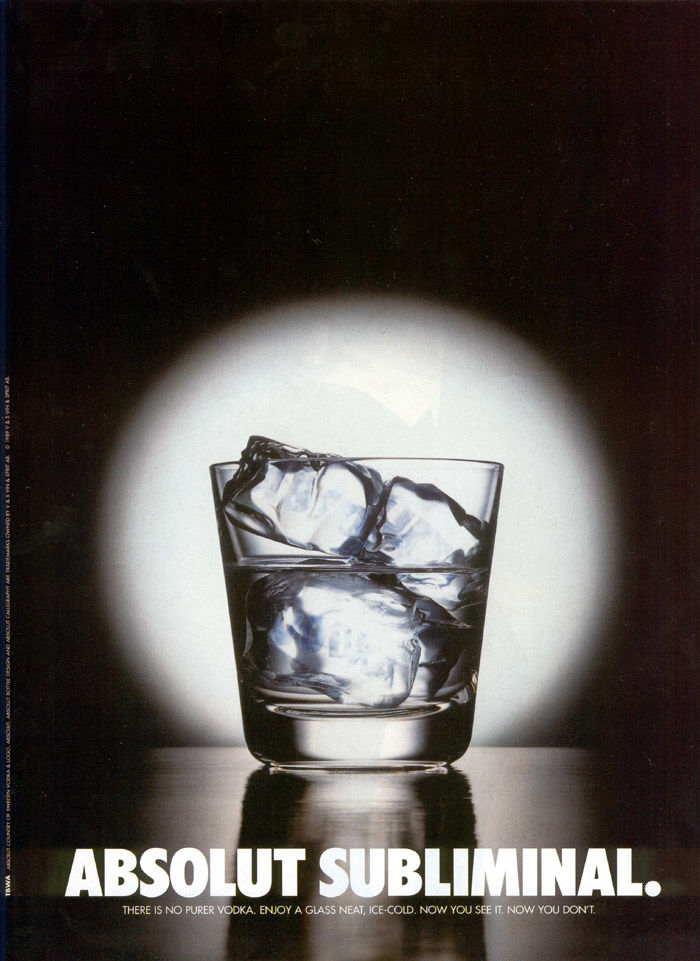 image subliminale vodka absolut