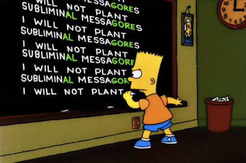simpsons image subliminale al gore