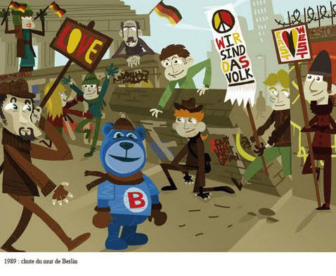 Butagaz Bob mur de Berlin 1989