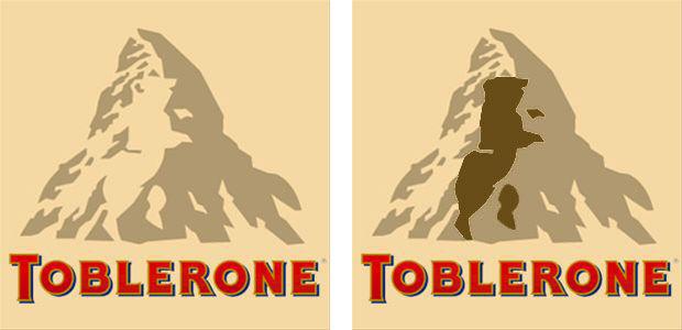 Toblerone ourson caché
