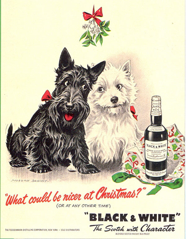 black and white whisky dogs