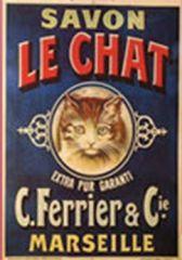 vieille affiche pour le savon Le Chat