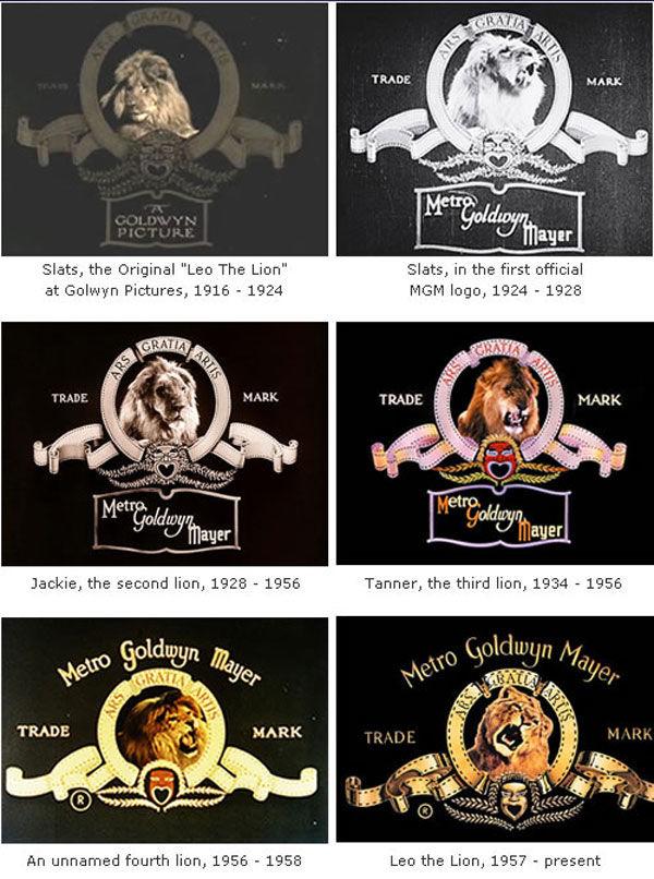les lions de la mgm depuis 1924