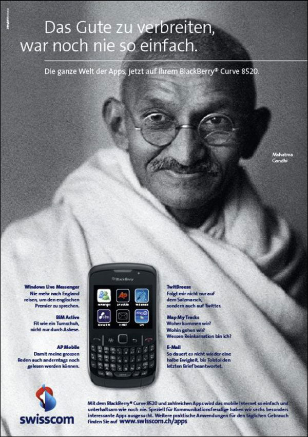 Gandhi Suisscom Blackberry