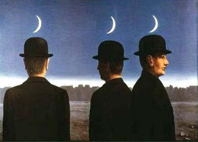 magritte hommes et lunes