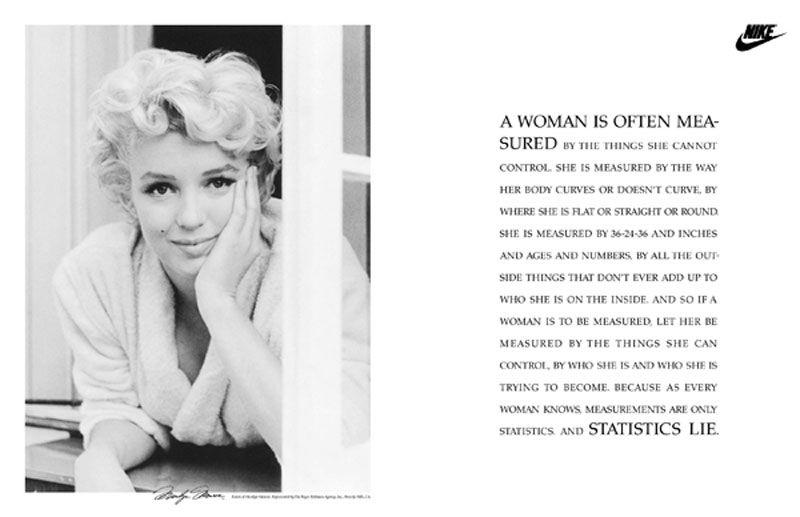 nike marilyn monroe publicité 1991