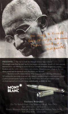 stylo gandhi mont-blanc