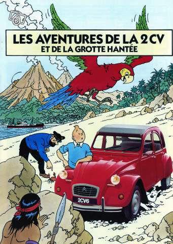 Tintin 2cv publicité