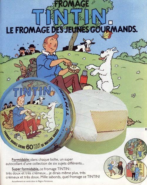 publicité Tintin fromage
