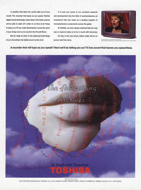 toshiba magritte publicité