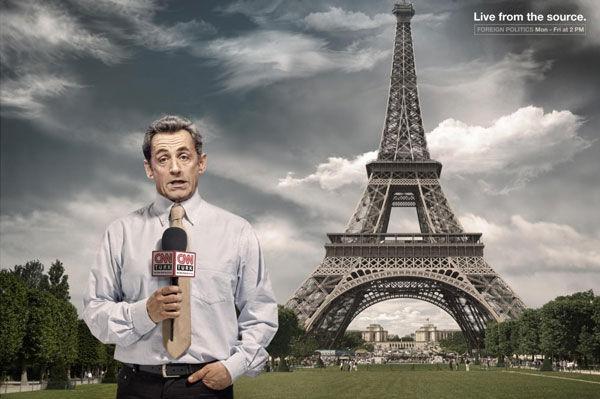 sarkozy publicité cnn