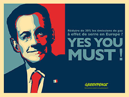 publicité sarkozy greenpeace
