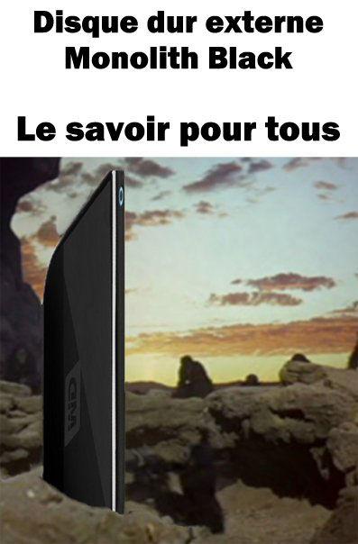 disque dur monolith 2001 parodie