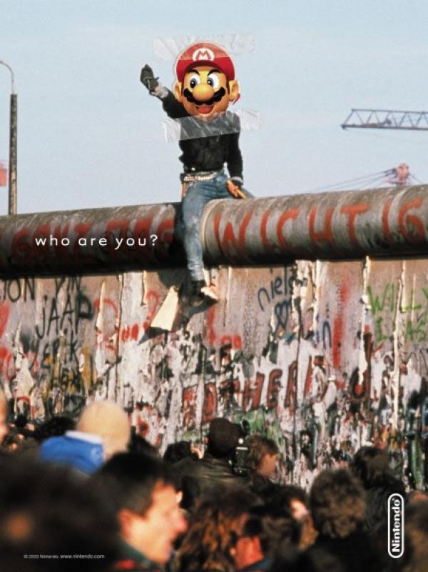 pub nintendo mario mur de berlin