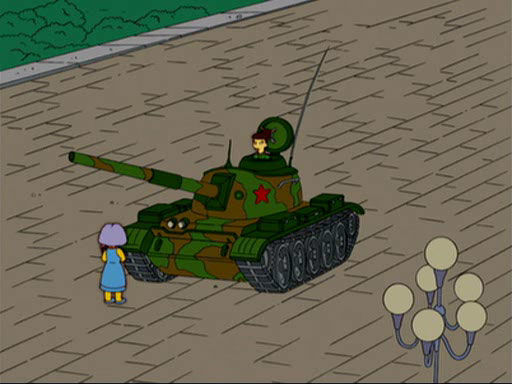 Selma tank man simpsons tiananmen