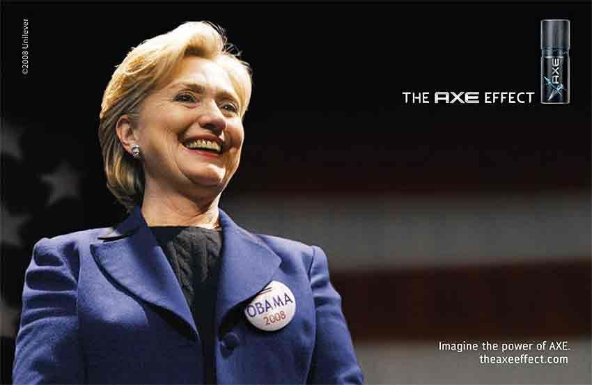 pub Barack Obama Hillary Clinton axe