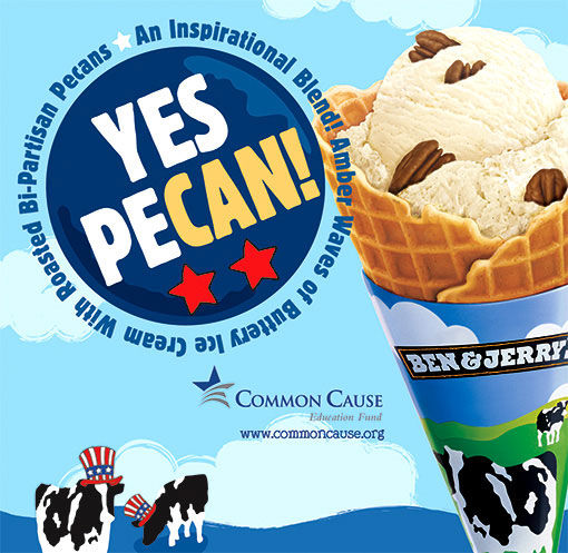 pub Barack Obama yes we can ben & jerry's