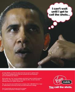 pub Barack Obama Virgin Mobile