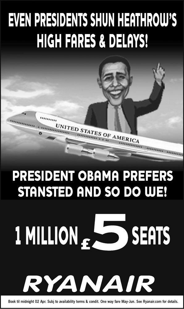 pub Barack Obama Ryanair