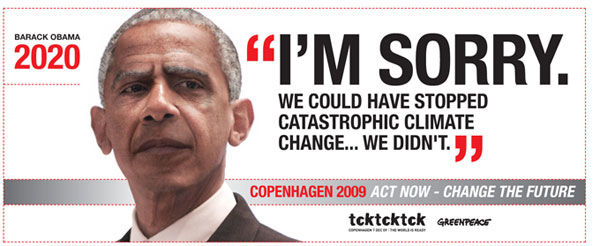 pub Barack Obama Greenpeace