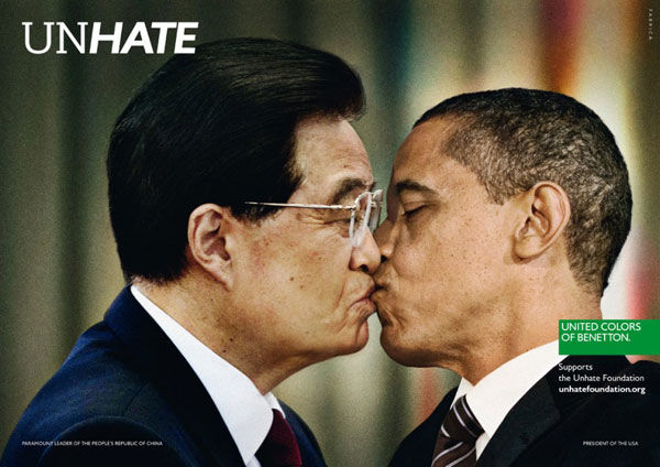 pub Barack Obama Benetton unhate