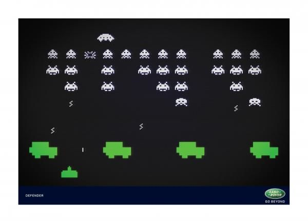 pub space invaders Land Rover