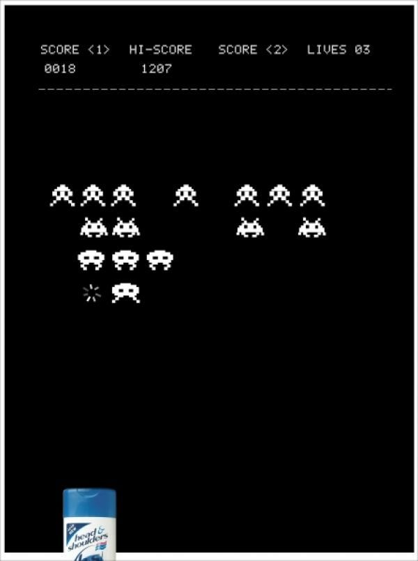 pub space invaders Head & Shoulders