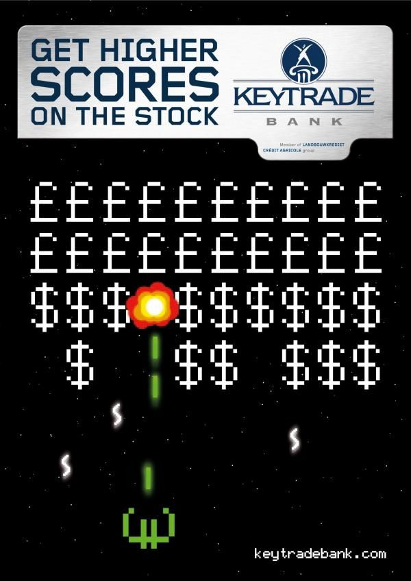 pub space invaders Keytrade Bank