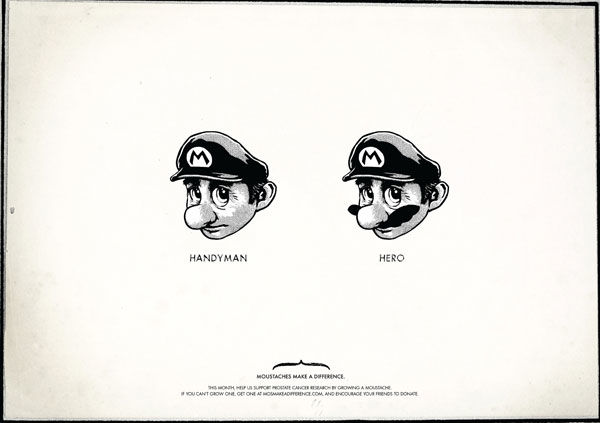pub super mario bros Moustaches Make a Difference