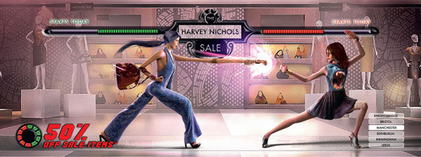 pub street fighter Harvey Nichol's