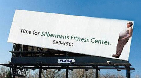 silberman's fitness center street marketing