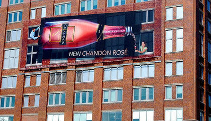 chandon rosé street marketing