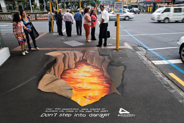 Aucland city roads street marketing