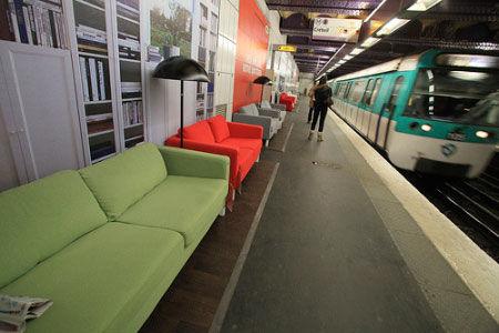 ikea dans le metro parisien