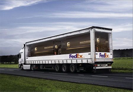 fedex ups street marketing