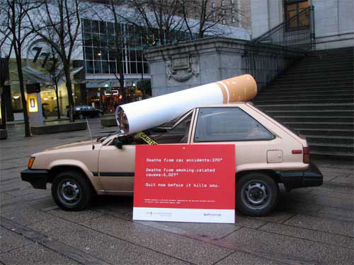 anti-tabac street marketing
