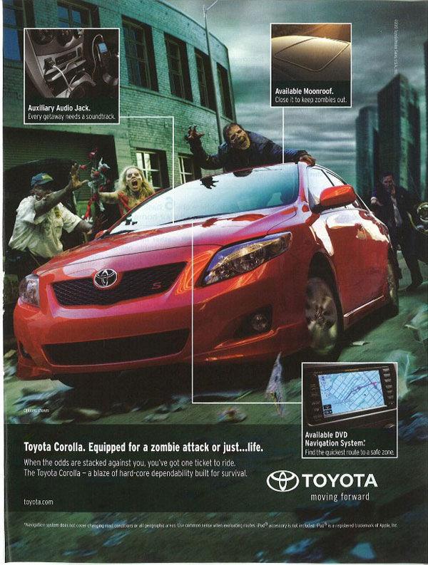 publicité zombies Toyota Corolla
