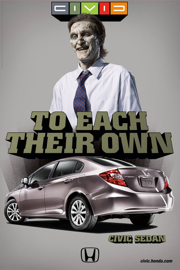publicité zombies honda civic