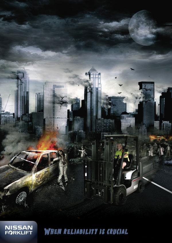 publicité zombies nissan