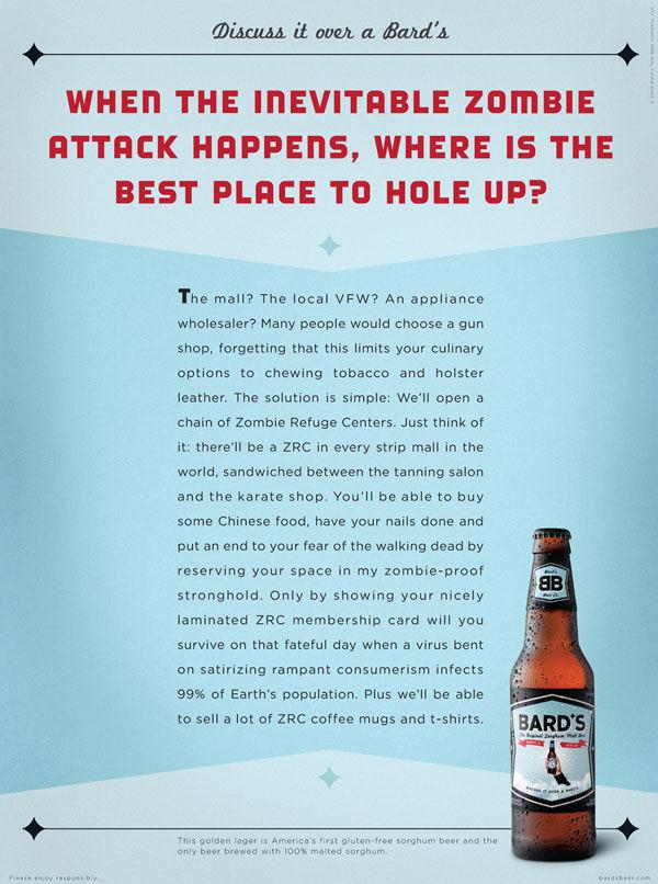 publicité zombies bière bards