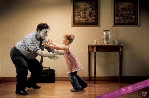 publicité zombies prévention contre le choléstérol, l'obésité et la tension artérielle