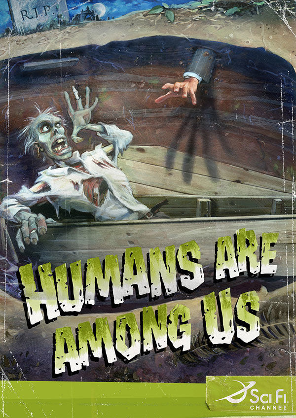 publicité zombies sci fi