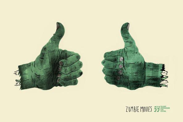 publicité zombies calgary underground film festival