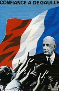 affiche présidentielle 1965 De Gaulle