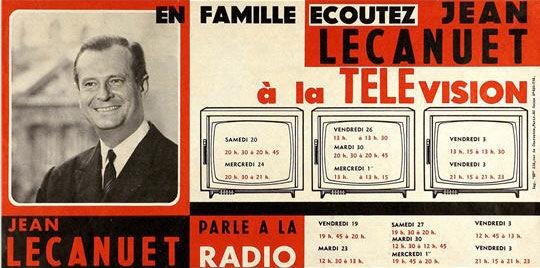 affiche présidentielle 1965 Mitterrand