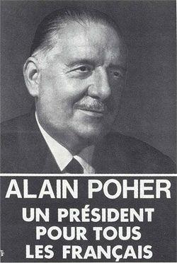 affiche présidentielle Poher