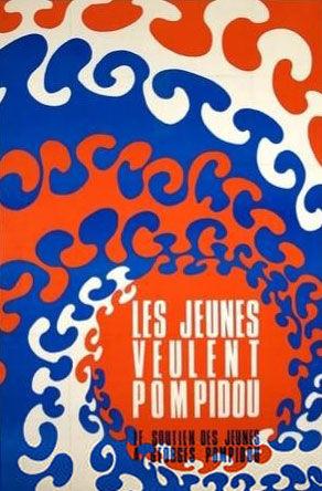 affiche présidentielle 1969 Pompidou