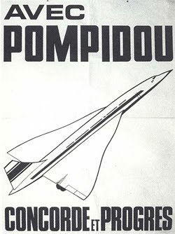 affiche présidentielle Pompidou